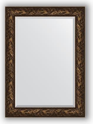 Зеркало с фацетом в багетной раме 79x109см византия бронза 99мм Evoform BY 3469