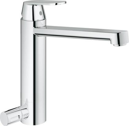 Смеситель для кухонной мойки с краном для посудомоечной машины, хром Grohe EUROSMART Cosmopolitan 30195000