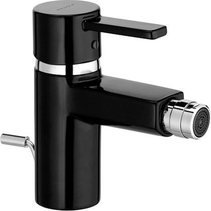 Смеситель для биде однорычажный с донным клапаном, чёрный / хром Kludi ZENTA 385308675