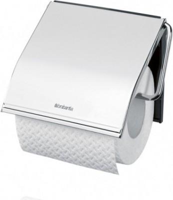 Держатель для туалетной бумаги с крышкой, полированная сталь Brabantia 414589