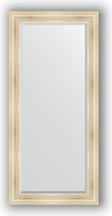 Зеркало с фацетом в багетной раме 79x169см травленое серебро 99мм Evoform BY 3601