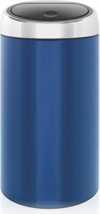 Ведро для мусора 45л синее Brabantia TOUCH BIN 424489