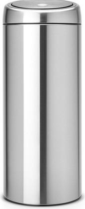 Ведро для мусора 30л стальное матовое Brabantia TOUCH BIN 378669