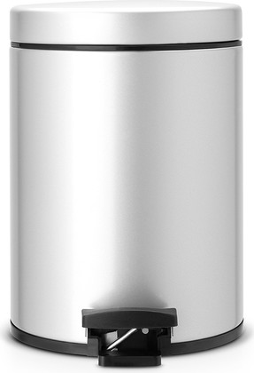 Ведро для мусора с педалью 5л серый металлик Brabantia 246623