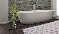 Коврик для ванной 60x100см серый с серебряным люрексом Grund BINDU 3617.16.299