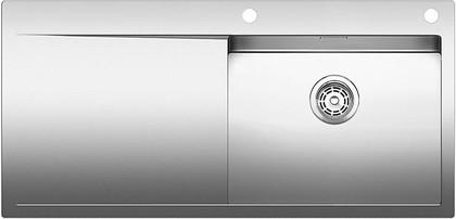 Кухонная мойка крыло слева, с клапаном-автоматом, нержавеющая сталь зеркальной полировки Blanco FLOW XL 6 S-IF 517553