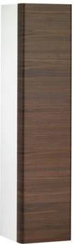 Высокий шкаф с корзиной для белья, петли справа, белый/грецкий орех Keuco ELEGANCE 31631386802
