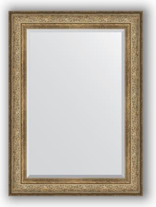 Зеркало с фацетом в багетной раме 80x110см виньетка античная бронза 109мм Evoform BY 3477