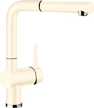 Смеситель кухонный однорычажный с высоким выдвижным изливом, керамика глянцевая магнолия Blanco LINUS-S 519750
