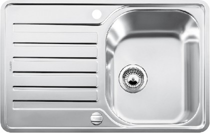 Кухонная мойка оборачиваемая с крылом, с клапаном-автоматом, нержавеющая сталь полированная Blanco LANTOS 45 S-IF Compact 519059