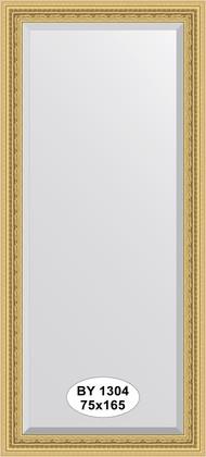 Зеркало 75x165см с фацетом 30мм в багетной раме сусальное золото Evoform BY 1304