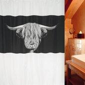 Штора для ванной комнаты 180x200см текстильная Spirella WOOLY 1017896