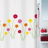 Штора для ванны 180x200см текстильная мультиколор Spirella FLORA 1015191