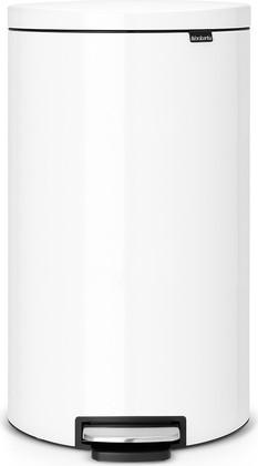 Мусорный бак 30л, белый Brabantia FlatBack+ 485206