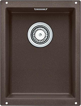 Кухонная мойка без крыла, с клапаном-автоматом, гранит, кофе Blanco SUBLINE 320-U 515055