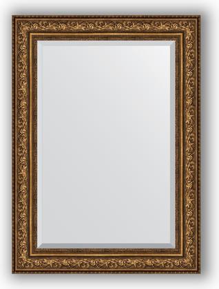 Зеркало с фацетом в багетной раме 80x110см виньетка состаренная бронза 109мм Evoform BY 3479