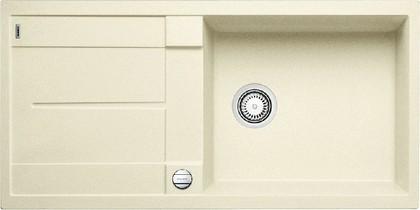 Кухонная мойка оборачиваемая с крылом, с клапаном-автоматом, гранит, жасмин Blanco METRA XL 6 S-F 516523