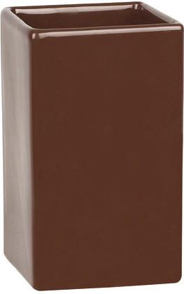 Стакан керамический коричневый Spirella QUADRO 1013657