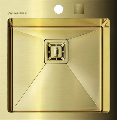 Кухонная мойка без крыла, нержавеющая сталь золотая Omoikiri Akisame OAK-44-1-IN-LG