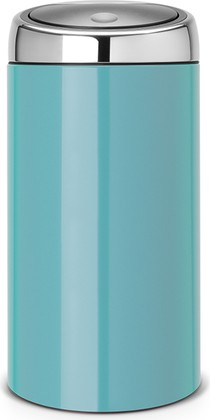 Ведро для мусора 45л лазурное Brabantia TOUCH BIN 481888