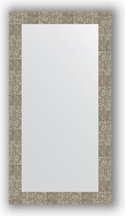 Зеркало в багетной раме 56x106см соты титан 70мм Evoform BY 3084