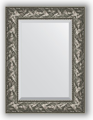 Зеркало с фацетом в багетной раме 59x79см византия серебро 99мм Evoform BY 3390