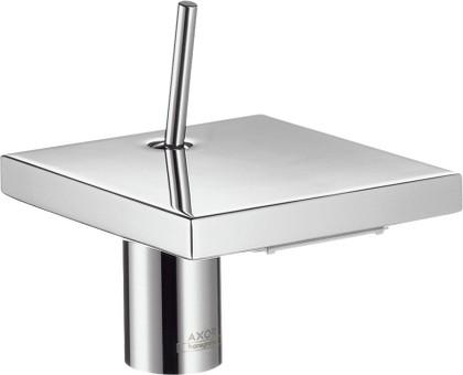 Смеситель с маленьким корпусом для раковины однорычажный с донным клапаном, хром Hansgrohe AXOR Starck X 10070000