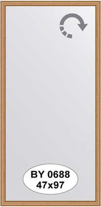 Зеркало 47x97см в багетной раме вишня Evoform BY 0688