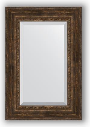 Зеркало с фацетом в багетной раме 62x92см состаренное дерево с орнаментом 120мм Evoform BY 3430