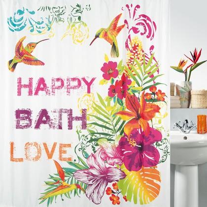 Штора для ванной комнаты 180x200см текстильная Spirella FORMENTERA 1017817