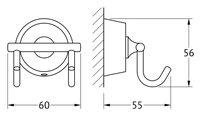 Крючки, моноблок двойной хром FBS VIZ 002