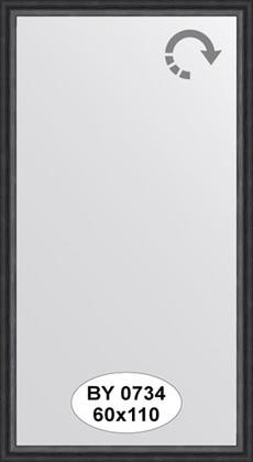 Зеркало 60x110см в багетной раме дуб чёрный Evoform BY 0734