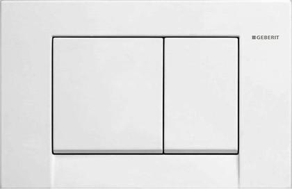 Кнопка пластиковая двойного смыва для инсталляции, белая Geberit BOLERO 115.777.11.1