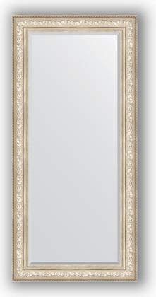 Зеркало с фацетом в багетной раме 80x170см виньетка серебро 109мм Evoform BY 3608