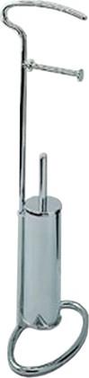 Стойка для туалета с туалетным ёршиком и держателем бумаги 720мм, хром Colombo MELO B1235