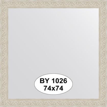Зеркало 74x74см в багетной раме белёный дуб Evoform BY 1026