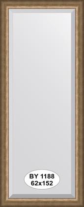 Зеркало 62x152см с фацетом 30мм в багетной раме старая бронза Evoform BY 1188