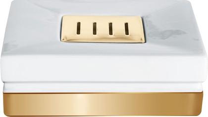 Мыльница керамическая, белый/золото Spirella ROMA 1017978