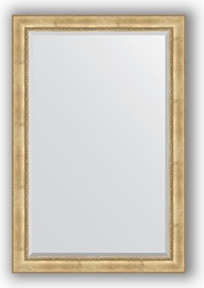 Зеркало с фацетом в багетной раме 122x182см состаренное серебро с орнаментом 120мм Evoform BY 3636