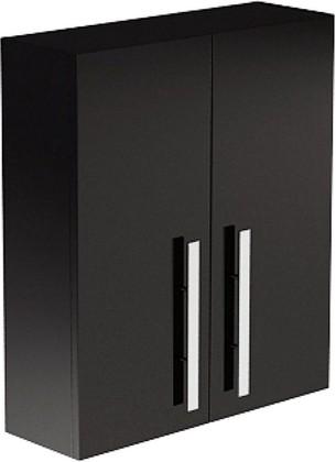 Шкафчик подвесной, 2 двери, 2 полки, зеркало 60х20х70см Verona Lusso LS503