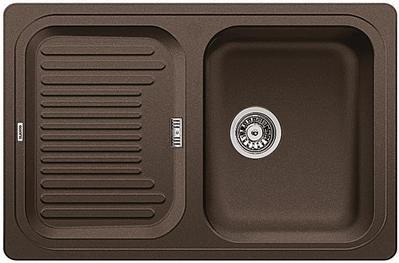 Кухонная мойка с крылом оборачиваемая, гранит кофе Blanco CLASSIC 45 S 521313