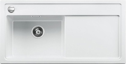 Кухонная мойка чаша слева, крыло справа, с клапаном-автоматом, гранит, белый Blanco ZENAR XL 6 S 519285