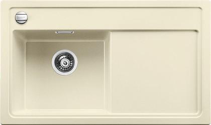 Кухонная мойка чаша слева, крыло справа, с клапаном-автоматом, гранит, жасмин Blanco ZENAR 45 S-F 519194