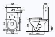 Унитаз напольный, сиденье с микролифтом Ifo Sjoss RP313072690