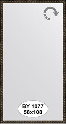 Зеркало 58x108см в багетной раме витая бронза Evoform BY 1077