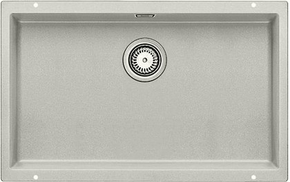 Кухонная мойка без крыла, с клапаном-автоматом, гранит, жемчужный Blanco SUBLINE 700-U 520661