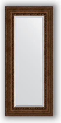 Зеркало с фацетом в багетной раме 62x142см состаренная бронза с орнаментом 120мм Evoform BY 3533
