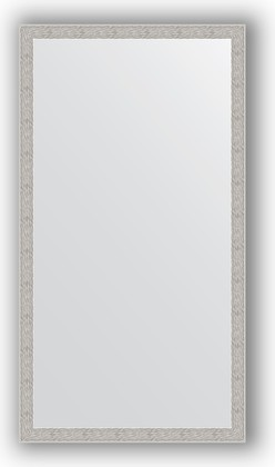 Зеркало в багетной раме 71x131см волна алюминий 46мм Evoform BY 3294