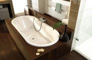 Ванна стальная 180x80см с отверстиями для ручек, Perl-Effekt, Antislip Kaldewei NOVOLA DUO OVAL STAR 270 2432.3000.3001