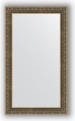 Зеркало в багетной раме 83x143см вензель серебряный 101мм Evoform BY 3320